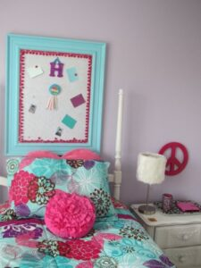 Turquoise, Pink, and Purple Bulletin Board
