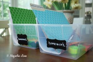 homework bins