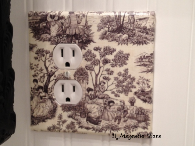 DIY Decoupaged Light Switch and Outlet Covers