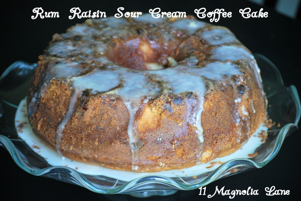 Rum Raisin Sour Cream Coffee Cake Recipe