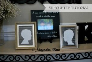 Creating a Crafty DIY Silhouette--Easy Tutorial