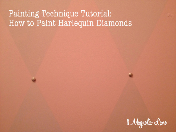 Harlequin diamond paint tutorial