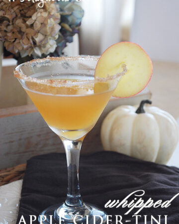Whipped Apple Cider Martinis {Halloween/Fall}