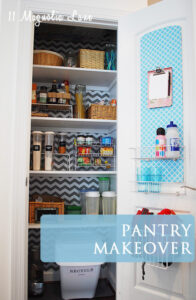 Pantry Makeover {Organizing Life}