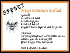 Orange Creamsicle Cocktail Recipe for Halloween