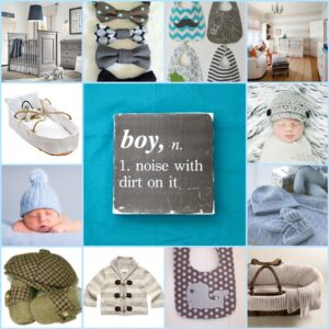 Baby Boy Inspiration Board and Maternity Thrift Store Find