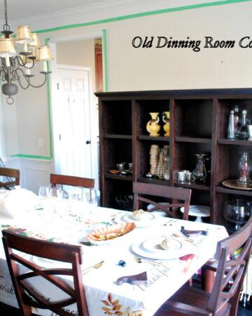 Dining Room Makeover {BM Revere Pewter Paint}