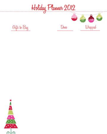 Christmas Organizing {Printables}
