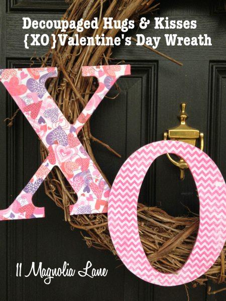 XO Valentines Day Wreath tutorial