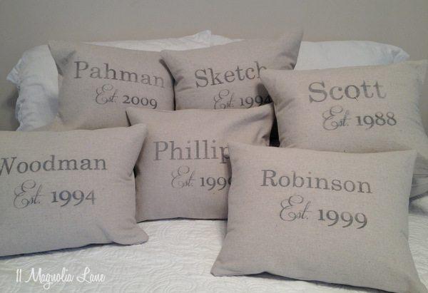 Anniversary Pillow Slipcovers