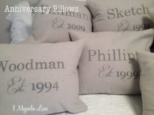 Anniversary Pillow Tutorial--Perfect for Valentine's Day!