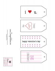 Red Valentines Gift Tags