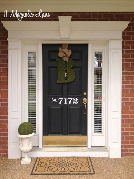 Pretty front door at 11 Magnolia Lane