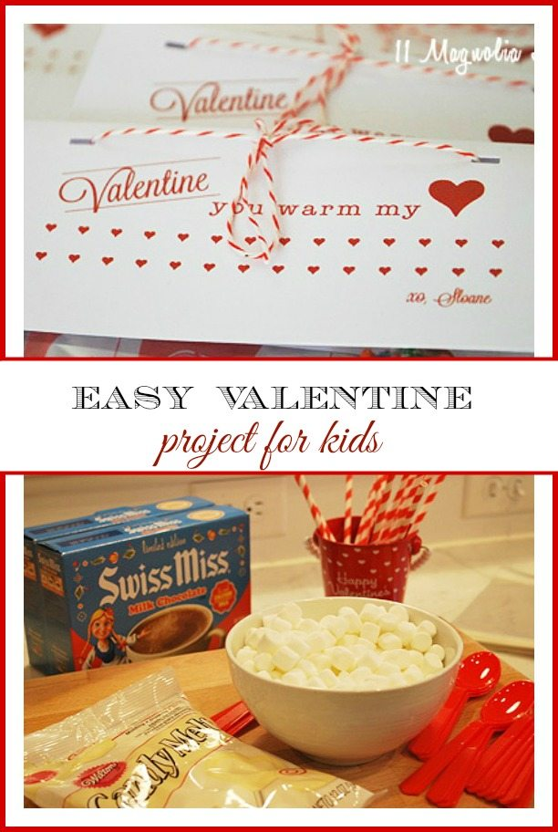 """Valentine You Warm My Heart"" Hot Chocolate Valentine's for kids to make, perfect for all ages."
