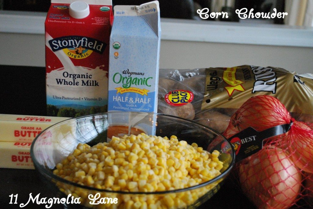 Corn Chowder Ingrediants