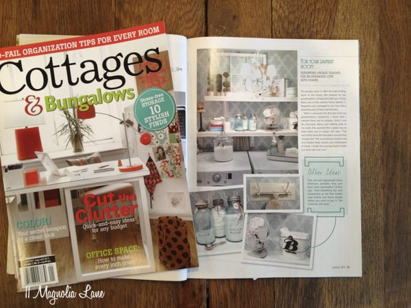 11 Magnolia Lane Laundry Room in January 2013 Cottages & Bungalows Magazine