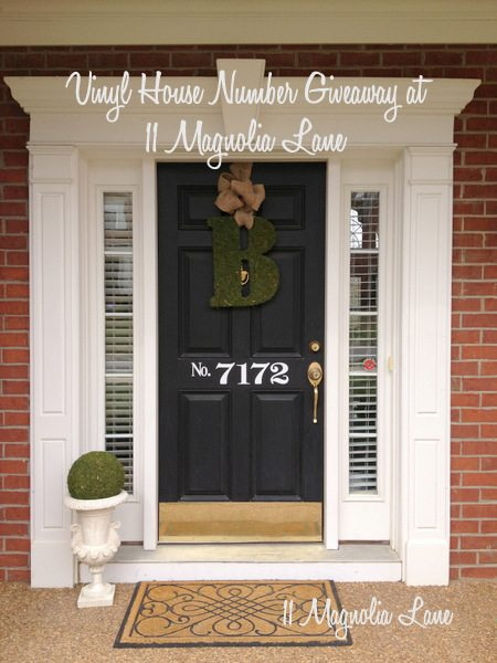 Giveaway--vinyl house numbers from 11 Magnolia Lane
