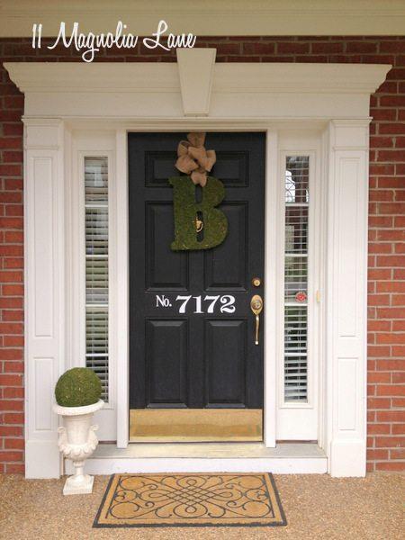 Vinyl house number on front door | 11 Magnolia Lane