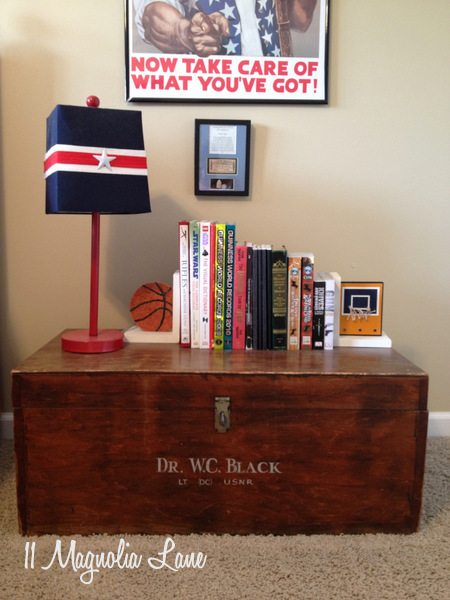 Boys' nightstand at 11 Magnolia Lane