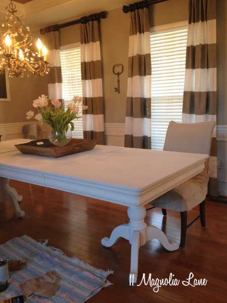 Dining room table--two coats of chalk paint and no wax