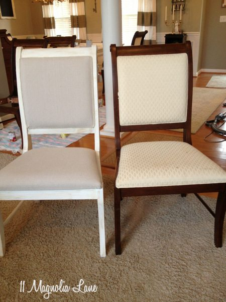 Dining room chairs, finished
