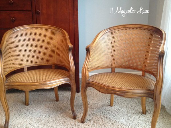 Cane chairs--before