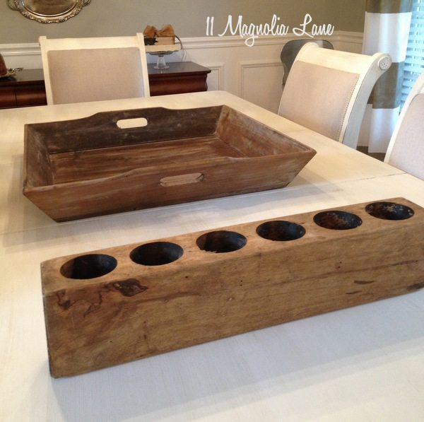 Antique wooden sugar mold