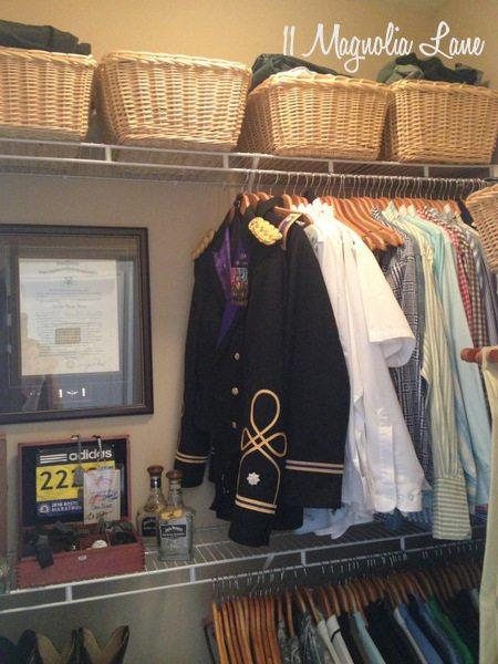 """""""His"""" closet at 11 Magnolia Lane"""