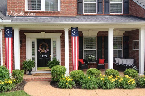 Memorial Day Front Porch red white blue