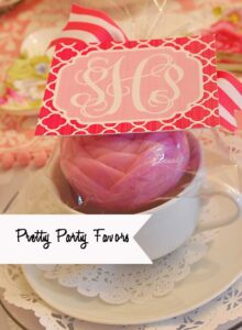 Simple, Personalized Party/Shower Favors