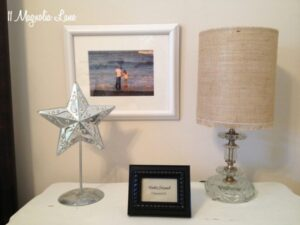 DIY Burlap Drum Lamp Shade