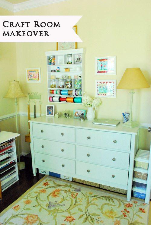 craft room makeover marked