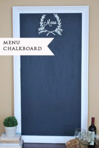 Large Painted 'Menu' Chalkboard {& a Sneak Peek}