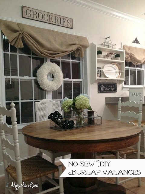 How to Make a No-sew DIY Burlap Window Valance