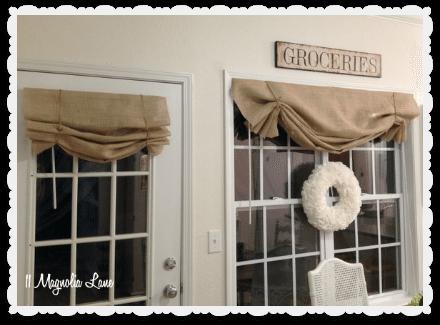 Tutorial How To Make A No Sew Diy Burlap Window Valance 11 Magnolia Lane
