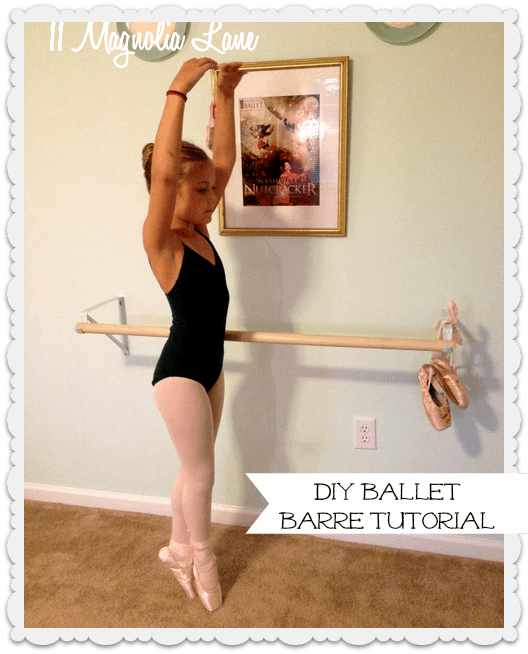 DIY ballet barre tutorial