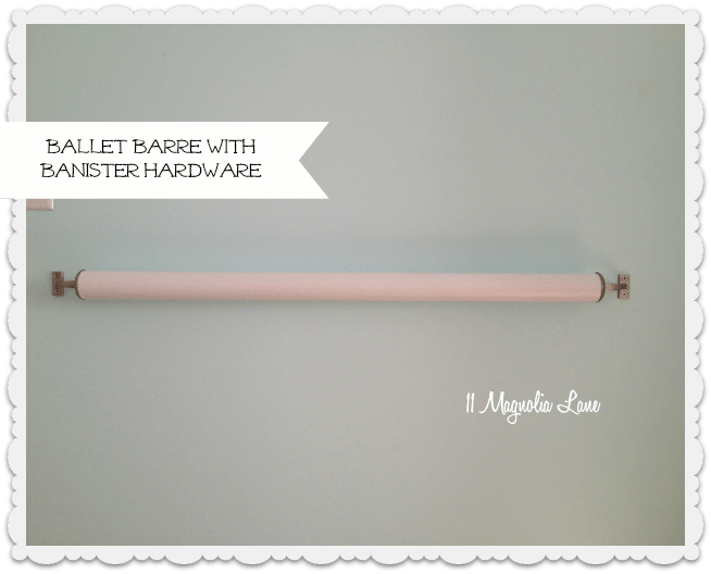 DIY ballet barre stair banister hardware