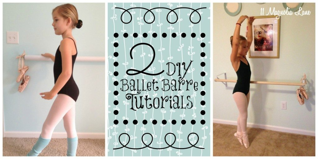 ballet barre tutorial collage