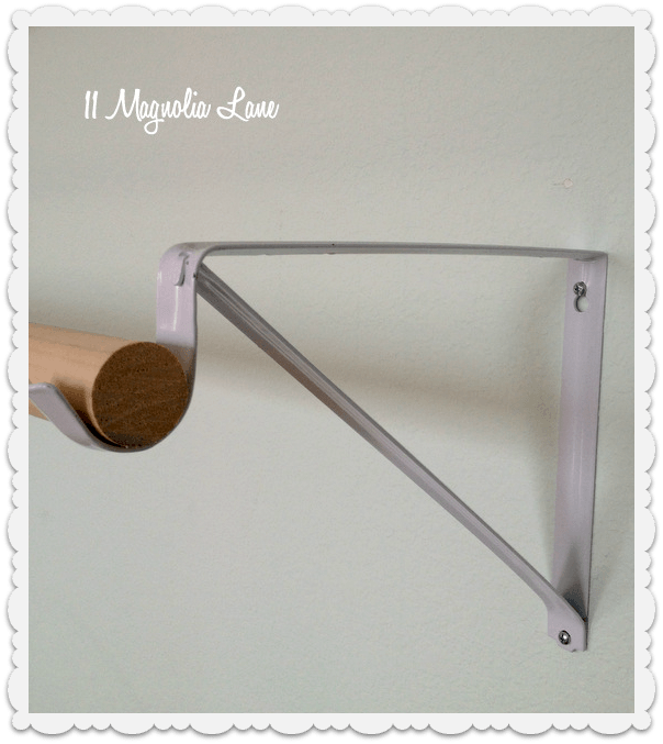 closet bracket as DIY ballet barre