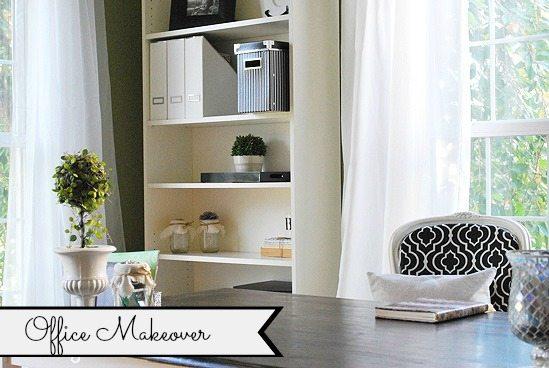 home office green, black, white