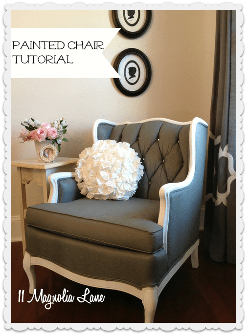 How to paint upholstery fabric and completely transform a piece of furniture. This painted chair was so easy!