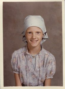 Steph's school picture during treatment
