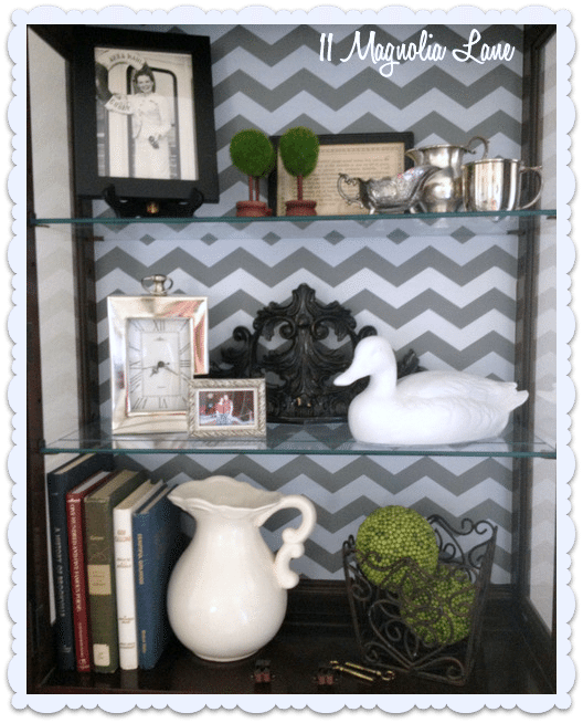 shelf paper styling