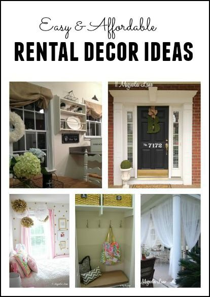 Easy and affordable ideas to decorate and personalize your rental home {written by a military spouse}.