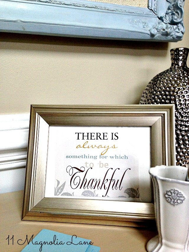 There is always a reason to be thankful framed poem
