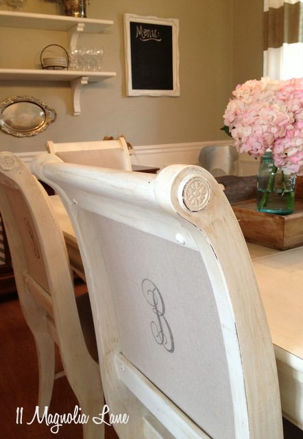dining room table chairs painted white monogram