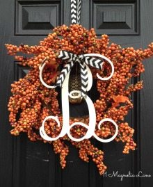 Fall Wreath and Initial Monogram Giveaway!