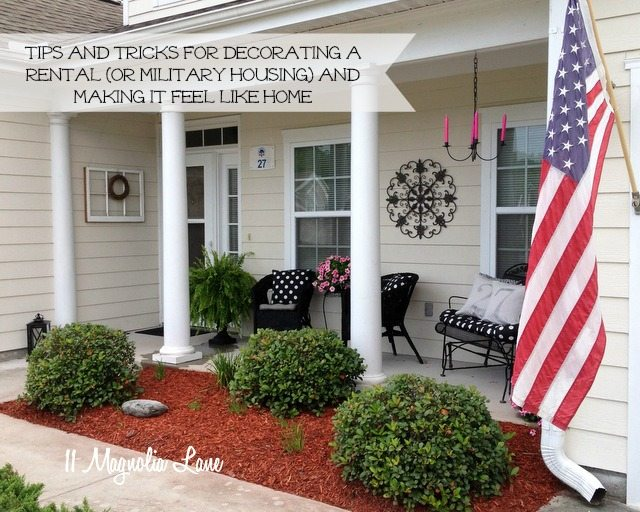 tips tricks decorating rental military house housing