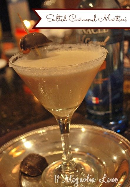 Absolutely decadent--salted caramel martini drink recipe | 11 Magnolia Lane