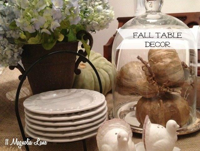 fall centerpiece decor table